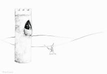 PSA 12 - graphite on paper - 8,5 x 11 inches