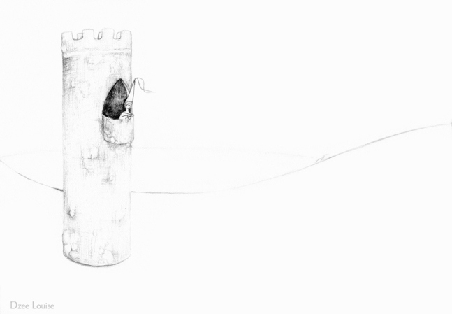 PSA 2 - graphite on paper - 8,5 x 11 inches