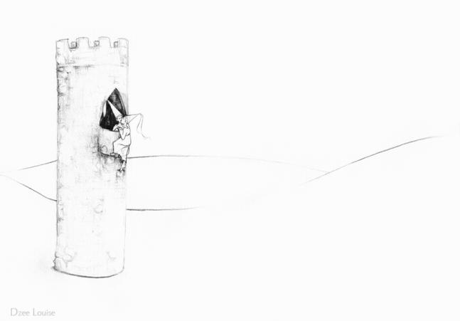 PSA 5 - graphite on paper - 8,5 x 11 inches