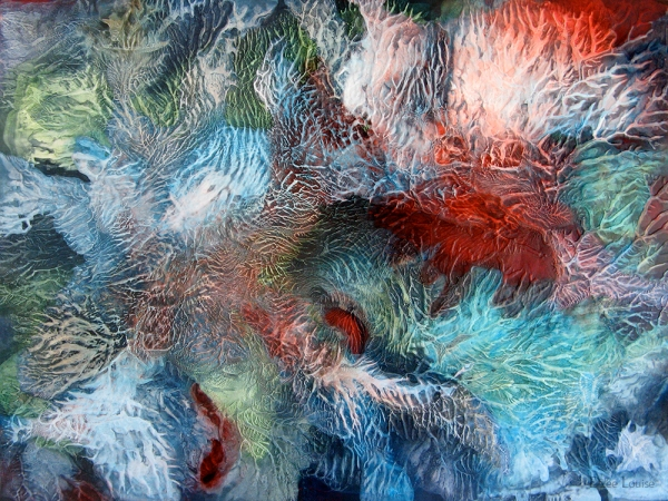 Happen Prance - acrylic on wood panel - 36 x 48 inches