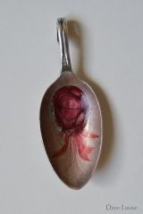 Pendant - Spoon, Red Nebula