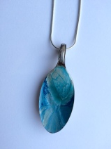 Spoon Pendant - Ice Blue