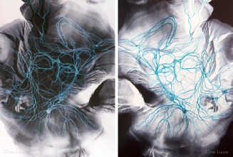 Reflection (Diptych) - 13 x 18 inches each panel - acrylic, watercolour, archival pigment print