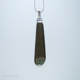 BK10 Charcoal Side, Butter Knife Pendant #10 Charcoal Side