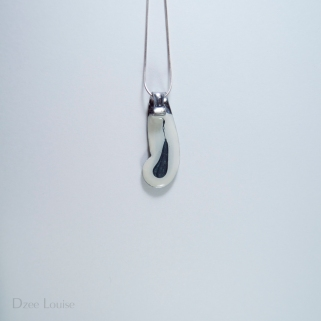 Handle Pendant #23, White Side (SOLD)